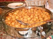 Arab donuts with date syrup